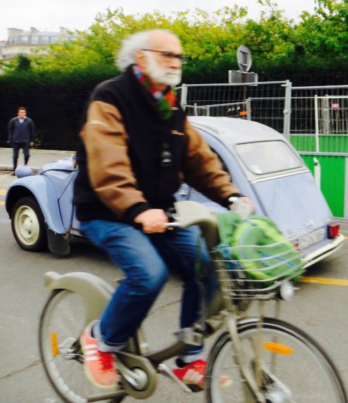 I meant to snap this 2CV but this elderly gentleman hove into my photo at speed ...